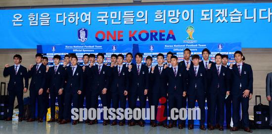 대한민국 대표팀은 27일 오전 5시 벨기에와 조별리그 마지막 경기를 앞두고 있다. /김슬기 기자
