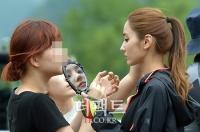 [TF포토] '오프로드' 한채영, '오똑한 코만 보이네~'