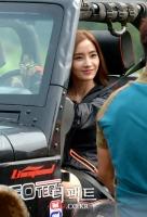[TF포토스토리] 화끈한 드라이빙의 한채영 '미모도 운전도 수준급!'