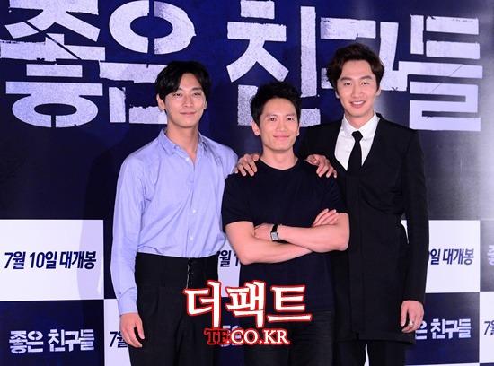 주지훈(왼쪽)은 영화를 통해 만난 배우 지성과 이광수를 회상하며 좋은 인연이라고 추억했다./김슬기 기자