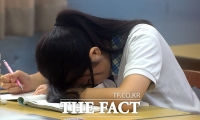 [TF포토] 수능 D-100, '피곤하다, 피곤해!'