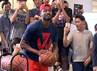 [TF영상] 'NBA 덩크왕' 존 월 방한, '3점 릴레이 16골!'…'성공률 64%'