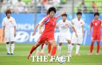 [TF포토] 북한 여자 막강화력, '전반 3-0으로 리드'