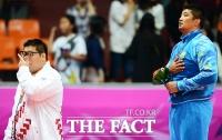 [TF포토] 김용민, '금메달이 갖고 싶었는데...'