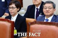 [TF포토] 국감 기다리는 아워홈 구지은 전무-포스코 윤동준 부사장