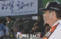 [TF포토] 김성근 감독, '야구해서 행복합니다'