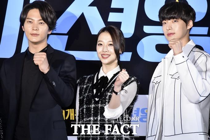 영화 패션왕의 주연배우 주원(왼쪽부터) 설리 안재현./최진석 기자