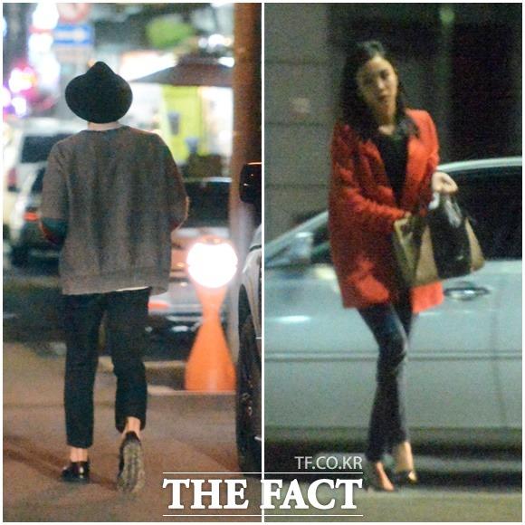 박태환의 귀여운 매력을 강조한 패션(왼쪽)과 장예원 아나운서의 상큼한 이미지를 도드라지게 한 다홍빛 재킷/이새롬 기자
