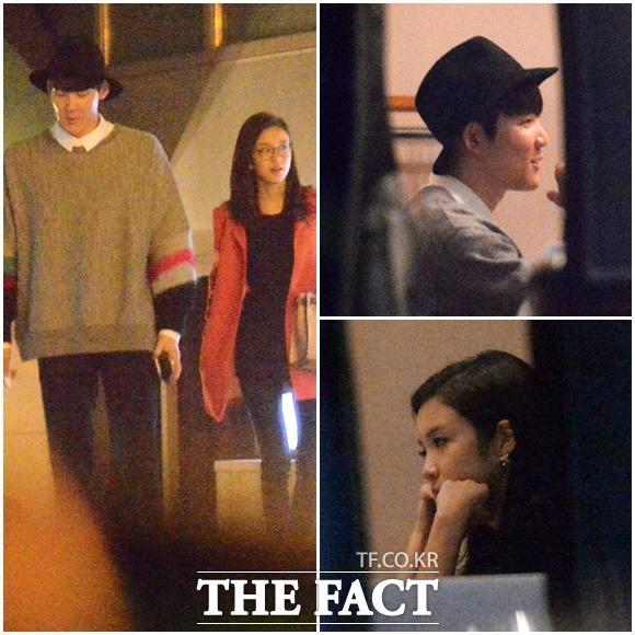 지난달 25일, 박태환과 장예원 SBS 아나운서가 오붓한 저녁 식사와 영화관 데이트를 즐기고 있다./이새롬 기자