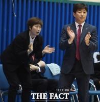[TF포토] 안세환 감독 '유코치 오늘 이길 것 같지'