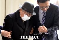 [TF포토] 조석래 효성 회장, '마스크에 가려진 얼굴'