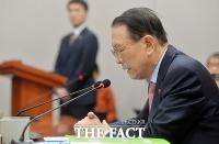 [TF포토] 민정수석 해임 의사 밝히는 김기춘 비서실장