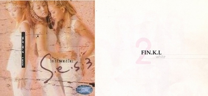 S.E.S의 3집 앨범 러브(왼쪽)는 여성 그룹 부문 단일 앨범 최다 판매량을 기록했다. 핑클 앨범 가운데 가장 많이 판매된 건 2집 화이트(오른쪽)였다. /러브 화이트 앨범 커버
