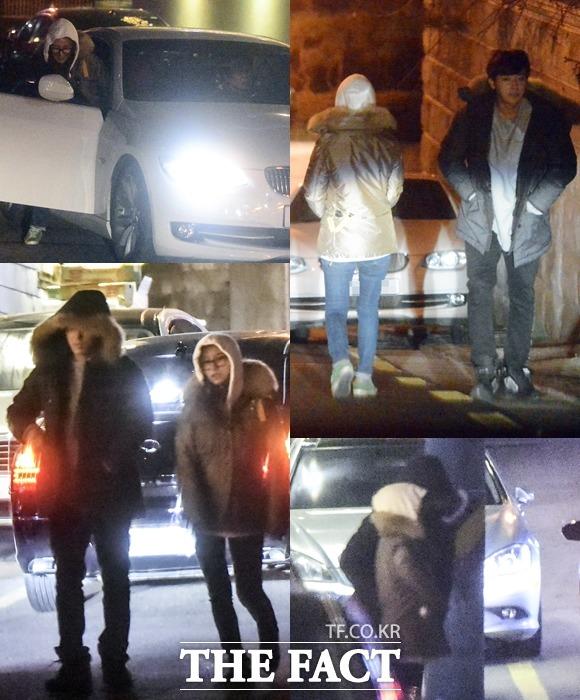 손호준 김소은, 대세들의 만남. 손호준과 김소은은 주위를 의식한 듯 모자를 쓰고 조심스레 발길을 옮겼다. /최진석 기자