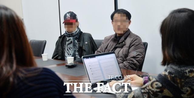 부모로서 당연한 알 권리, 아이 확인 제발 부탁  김현중의 부모가 27일 <더팩트>와 최초 언론 인터뷰에 응하고 있다. /문병희 기자