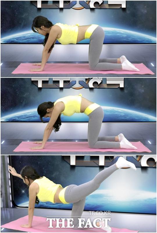 스트레칭시 정확한 자세를 유지하고 천천히 근육의 긴장을 느껴보자.