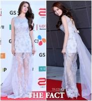 [TF클릭] 티아라 지연, 청순한 듯 섹시한 레이스 드레스