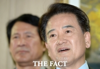 [TF포토] 정동영, '기득권 보수정당 체제 내가 깬다'