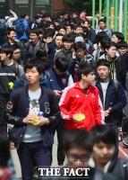 [TF포토] '현대차 인적성검사 마친 취준생들'