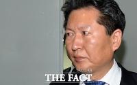 [TF포토] 정청래 최고위원, '붉게 충혈된 눈'