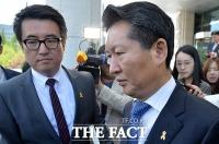 [TF포토] 정청래, '당 윤리심판원 소명 후 굳은 표정'