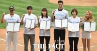 [TF포토] 한자리에 모인 스포츠연예 스타들 '불법 스포츠도박 안돼'