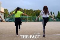 [TF사진관] 여민정-노수람 '여자 연예인 야구단 입성기'