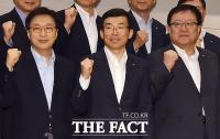 [TF포토] 파이팅 외치는 이인용-김영태 사장