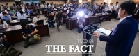[TF포토] 면세점 발표에 분주한 취재진