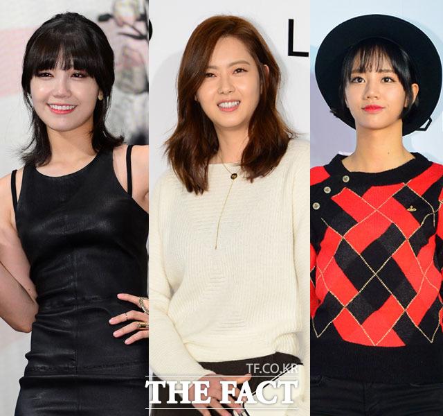 응답하라 시리즈의 세 여주인공. 에이핑크 정은지, 배우 고아라, 걸스데이 혜리(왼쪽부터)는 모두 tvN 드라마 응답하라 시리즈의 여주인공을 맡은 인물이다. /더팩트 DB