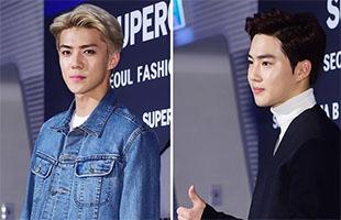 [TF영상] '서울패션위크' EXO 수호-세훈, '패션쇼 찾은 조각들'