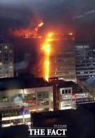 [TF포토] 분당 화재 '크게 번지는 불'