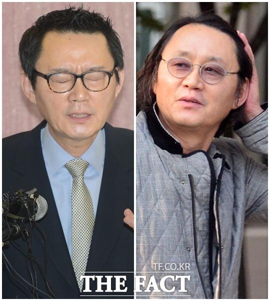 청와대 벗어나 김포 스타일로 윤창중 전 대변인은 2년 5개월 만에 사진기자도 못 알아 볼만큼의 변신했다. 왼쪽은 2013년 성추행 의혹 기자회견 당시 모습.
