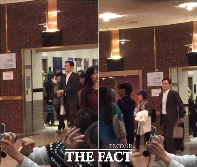 이재용 삼성전자 부회장은 23일 막내딸이 출연하는 국립발레단의 호두까기 인형 공연을 보기 위해 서울 서초구 예술의 전당 오페라 극장을 찾았다./예술의전당=김민수 기자