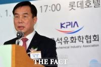 [TF포토] 신년사하는 허수영 롯데케미칼 사장