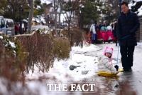 [TF사진관] '눈이 녹아요~' 북극 한파 이동으로 평년 기온 찾은 전주한옥마을