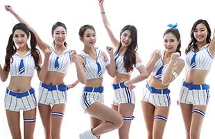 '화끈한 그녀들' 삼성 라이온즈 치어리더 '블루팅커스'의 새해 인사