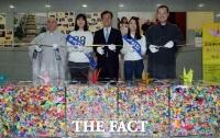 [TF포토] 율리사지 석탑 반환을 위한 종이학 20만 마리 전시