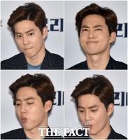 [TF포토] 엑소 수호, '영화배우 김준면의 긴장된 표정'