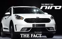 [TF포토] 기아차, 친환경 소형 SUV '니로' 출시...'국내 최고 연비'