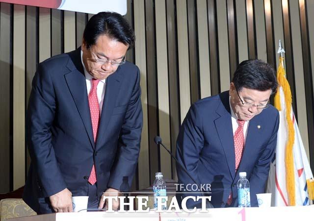 1번 정진석 원내대표 후보 김광림 정책위의장 후보