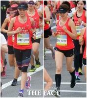 [TF사진관] '달리는 미녀는 아름다워~' 이시영-김보형, 마라톤 완주를 위해 런!