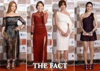 [TF포토] 레드카펫 수놓은 '형형색색 화려한 드레스'