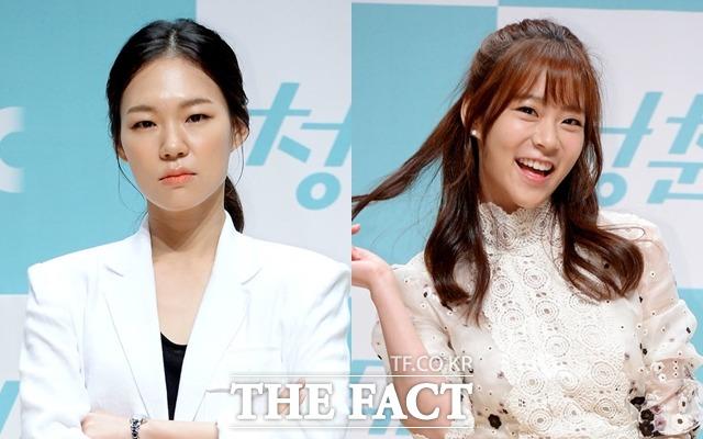청춘시대 한예리-한승연. 오는 22일 첫 방송되는 JTBC 새 금토드라마 청춘시대에 출연하는 배우 한예리와 한승연이 자신이 연기하는 캐릭터와 어울리는 포즈를 취하고 있다. /남용희 인턴기자