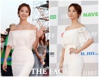 [TF포토] 이청아, 영화제 밝히는 순백의 드레스