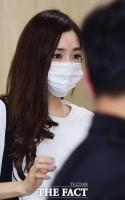 [TF포토] 'SNS 전범기 논란' 티파니, '광복절 귀국 현장'