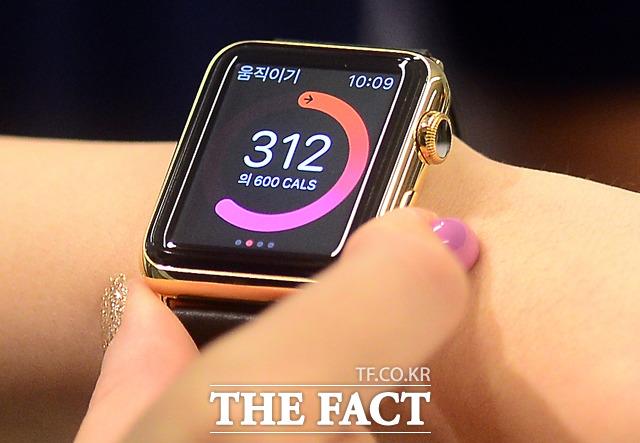 애플은 다음 달 7일로 예상되는 '아이폰7' 공개 행사에서 '애플워치' 신제품을 선보일 전망이다. 사진은 지난해 6월 출시된 '애플워치'. /이새롬 기자