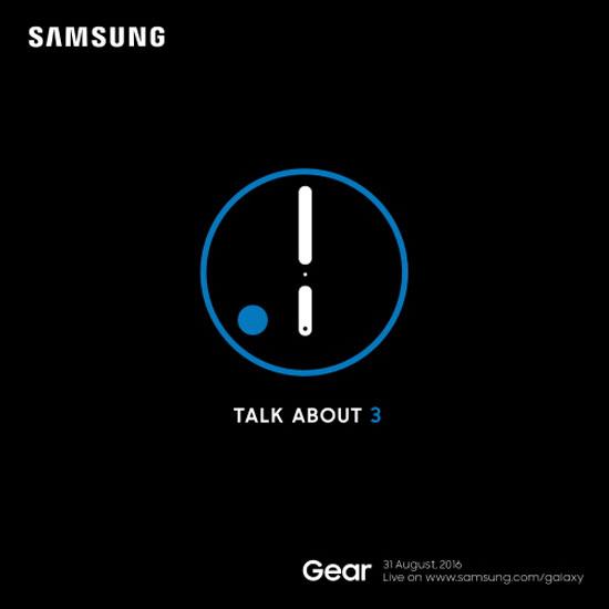 삼성전자는 웨어러블 론칭 행사 초청장에 'Talk About 3'라는 문구를 통해 '기어S3 공개 행사임을 명시했다. /삼성전자 제공