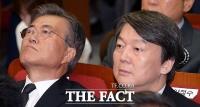 [TF포토] '야권 대선 잠룡' 문재인-안철수, DJ추도식 나란히 참석