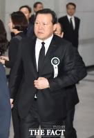 [TF포토] 롯데 이인원 부회장 영결식 찾은 황각규 사장